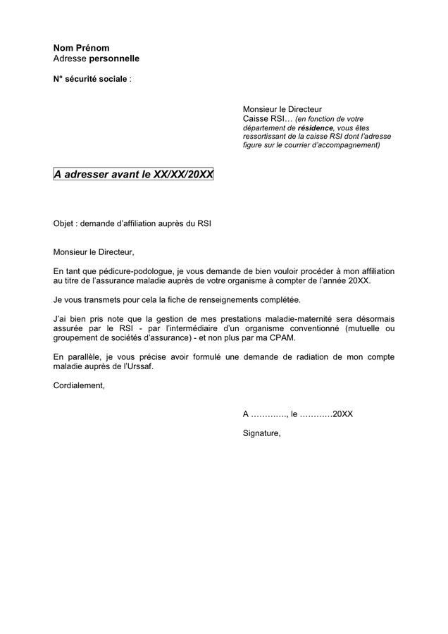 AFFILIATION TÉLÉCHARGER RSI ATTESTATION